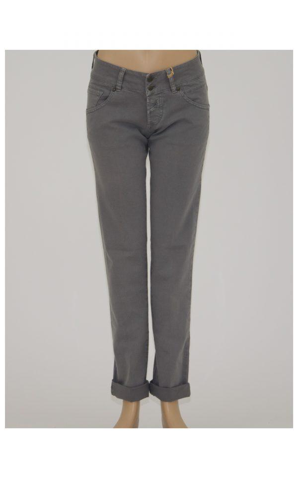 Jeans donna 5 tasche con zip e doppio bottone nel punto vita - Miit Jeans