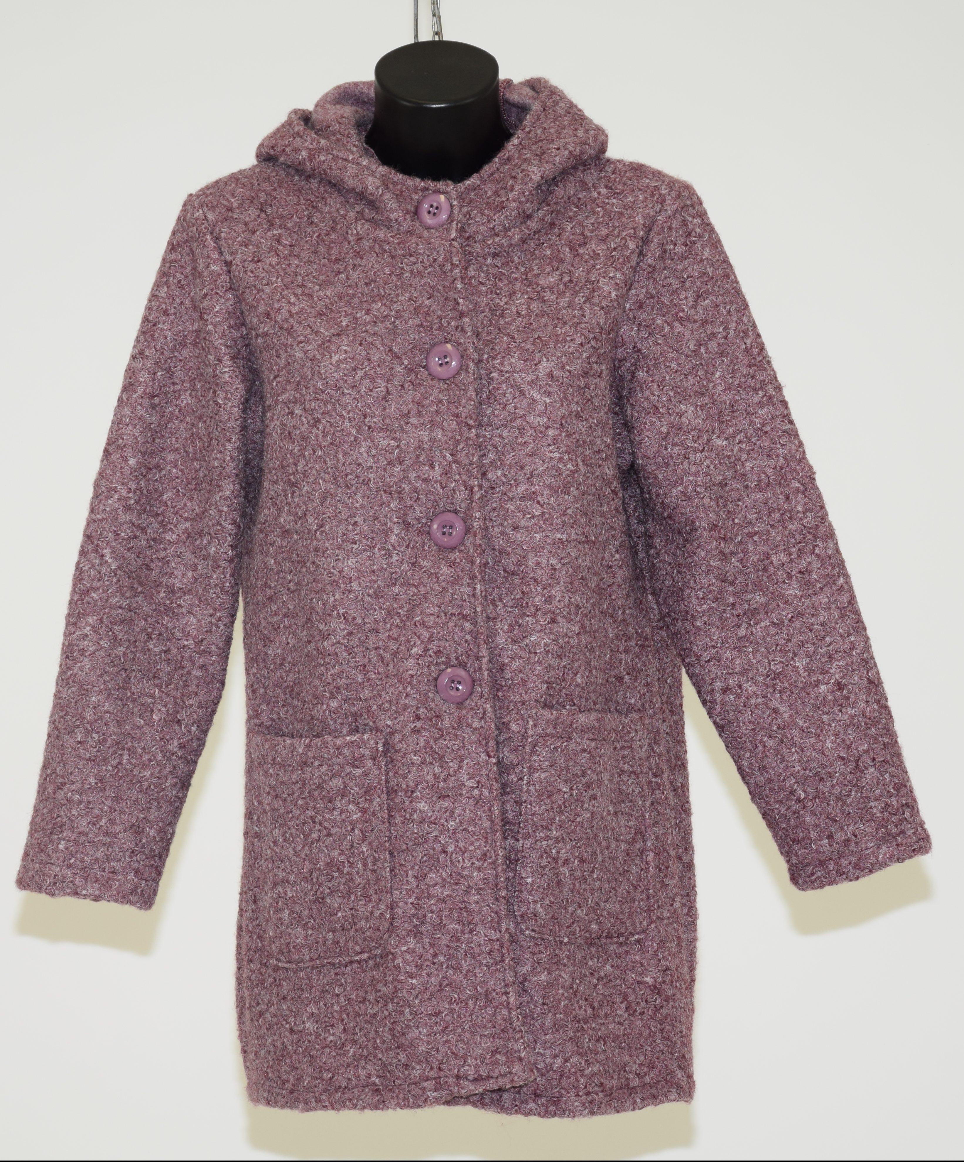 2b3b1beae3 Cappotto in lana cotta con cappuccio e maniche lunghe