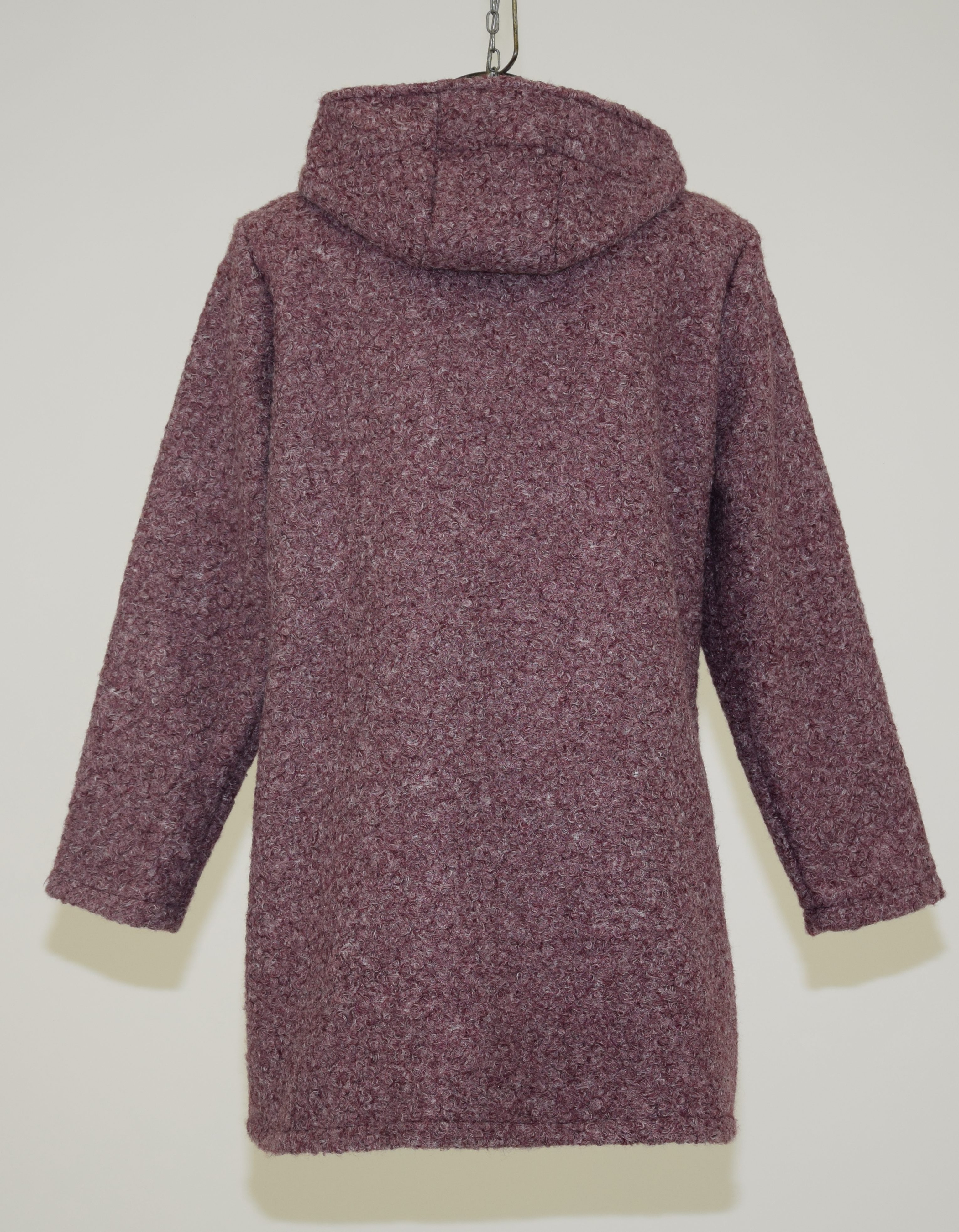 wholesale dealer ff51e a99d6 Cappotto in lana cotta con cappuccio e maniche lunghe ...