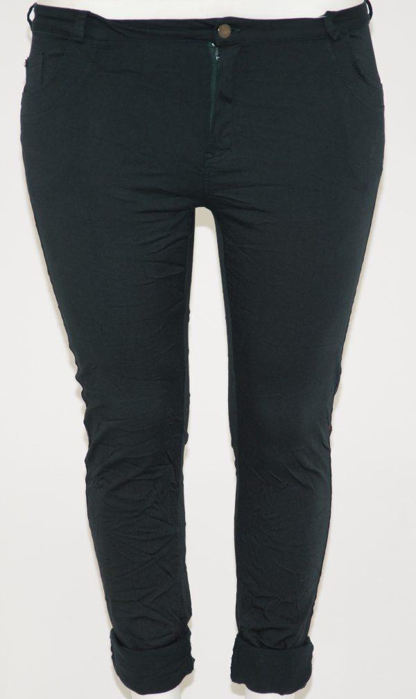 Pantalone con apertura a bottone e cerniera zip, 5 tasche