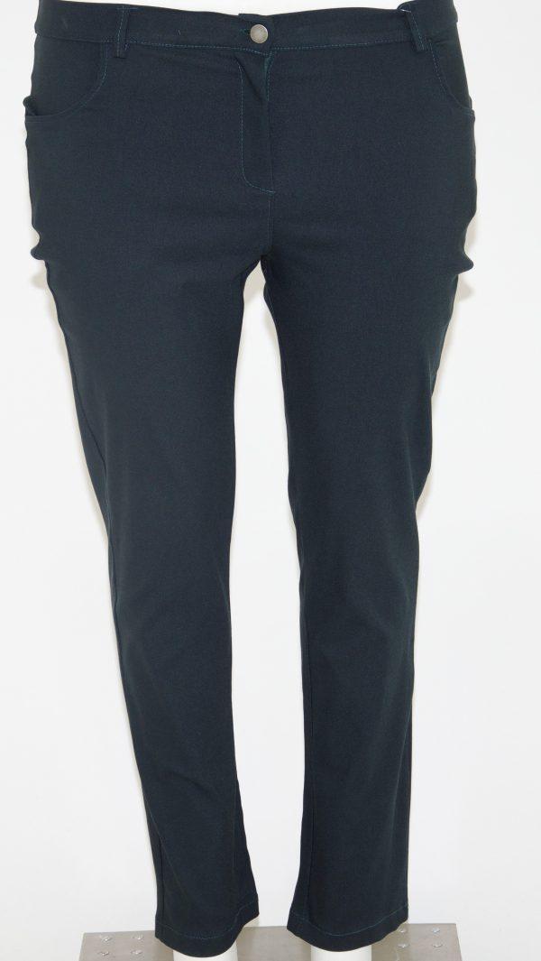 Pantalone tinta unita, 4 tasche e apertura con zip e bottone
